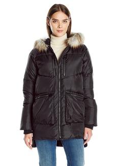 Derek Lam 10C Women's Faux Fur Trim Parka  S