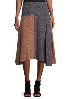 Derek Lam Broken-Dash A-Line Midi Skirt