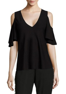 Derek Lam Cold-Shoulder Blouse