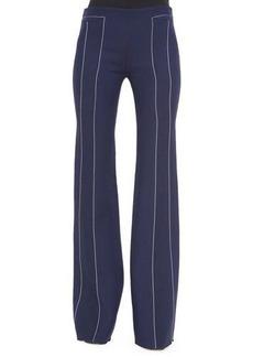 Derek Lam Contrast-Seam Flare Trousers