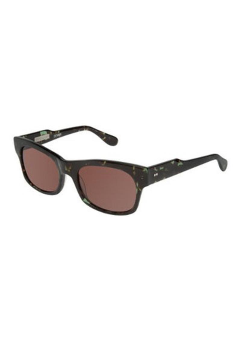 Derek Lam Devon Square Tortoise Acetate Sunglasses