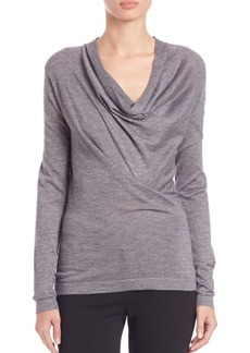 Derek Lam Draped Cowlneck Sweater