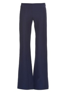 Derek Lam Mid-rise flared wool and silk-blend trousers