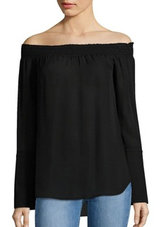 Derek Lam Off-the-Shoulder Silk Blouse