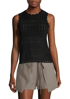 Derek Lam Perforated Cutout Top