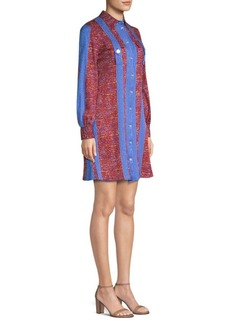 Derek Lam Printed Button-Down Shirtdress