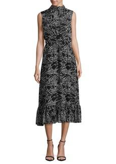 Derek Lam Printed Sleeveless Midi Dress
