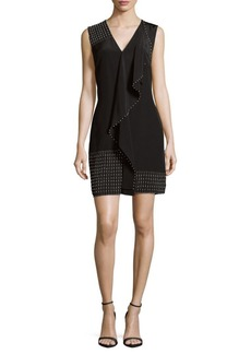 Derek Lam Ruffle-Trim Silk Shift Dress