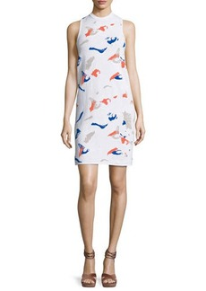 Derek Lam Ryman Geometric-Intarsia Sleeveless Dress