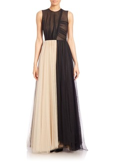 Derek Lam Sleeveless Lace Gown