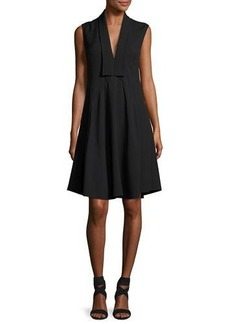 Derek Lam Sleeveless V-Neck Silk Dress
