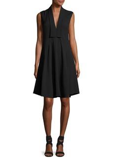 Derek Lam Sleeveless V-Neck Silk Dress