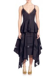 Derek Lam Tiered Peplum Dress