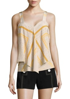 Derek Lam Tiered Silk Cami Top