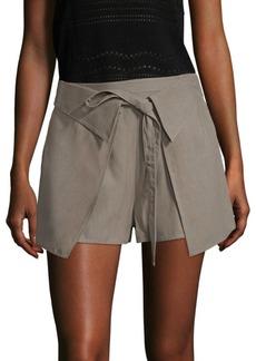 Derek Lam Twill Wrap-Front Shorts