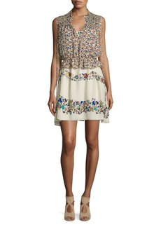 Derek Lam Two-Piece Floral-Print Silk Dress & Top