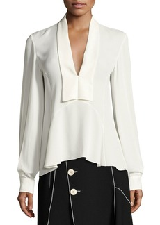 Derek Lam V-Neck Silk Blouse
