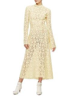 Derek Lam Victorian-Lace Midi Gown