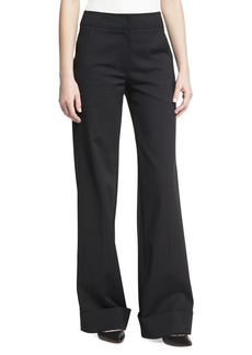 Derek Lam Wide-Leg Cuffed Pants