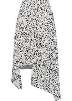 Derek Lam Woman Asymmetric Floral-print Silk Crepe De Chine Skirt White