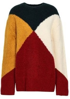 Derek Lam Woman Color-block Intarsia-knit Sweater Multicolor