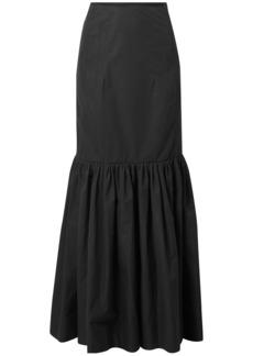 Derek Lam Woman Cotton-poplin Maxi Skirt Black