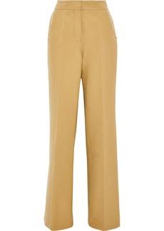 Derek Lam Woman Cotton-twill Wide-leg Pants Sand