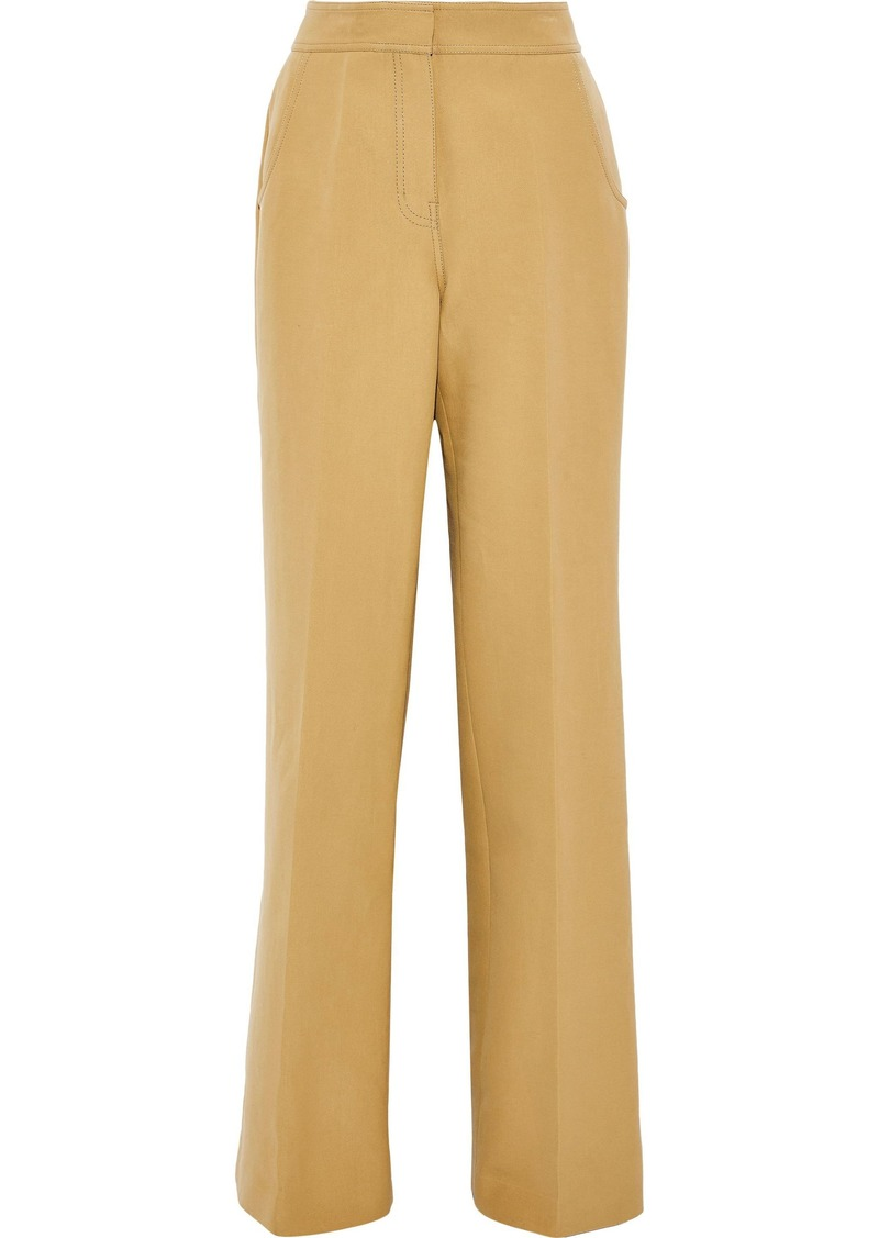 Derek Lam Woman Cotton-twill Wide-leg Pants Sand