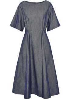 Derek Lam Woman Cutout Denim Midi Dress Mid Denim
