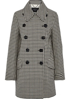 Derek Lam Woman Double-breasted Checked Jacquard Coat Brown