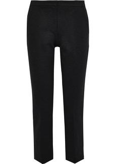 Derek Lam Woman Drake Cropped Stretch-cady Slim-leg Pants Charcoal