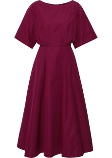 Derek Lam Woman Cutout Cotton-poplin Midi Dress Plum