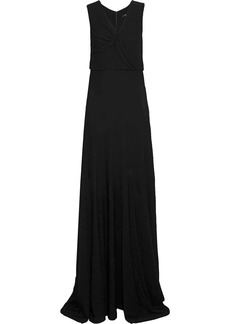 Derek Lam Woman Ruched Crepe Gown Black
