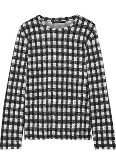 Derek Lam Woman Gingham Cotton-jersey Top Black