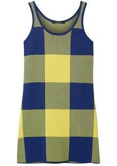 Derek Lam Woman Gingham Jacquard-knit Top Yellow