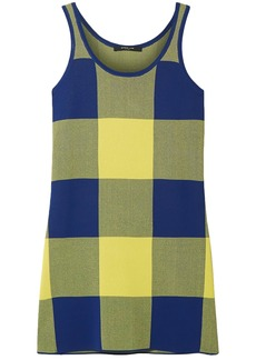 Derek Lam Woman Gingham Jacquard-knit Top Yellow