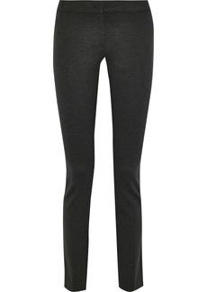 Derek Lam Woman Hanne Stretch-knit Skinny Pants Charcoal