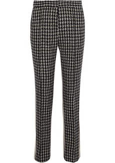 Derek Lam Woman Houndstooth Wool-blend Tweed Slim-leg Pants Taupe