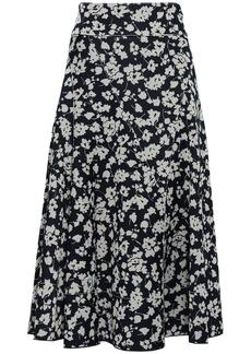 Derek Lam Woman Jacquard-knit Midi Skirt Navy