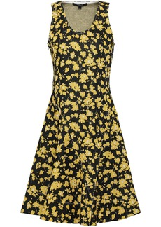 Derek Lam Woman Jacquard-knit Mini Dress Black