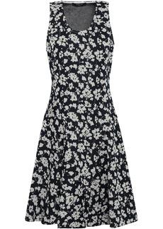Derek Lam Woman Jacquard-knit Mini Dress Navy