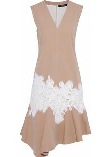 Derek Lam Woman Lace-appliquéd Cotton-twill Dress Beige