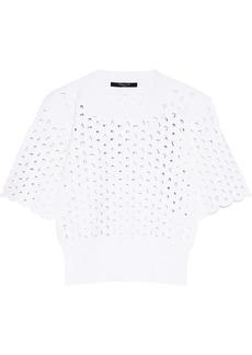 Derek Lam Woman Laser-cut Stretch-knit Top White