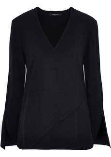 Derek Lam Woman Layered Crepe Top Black
