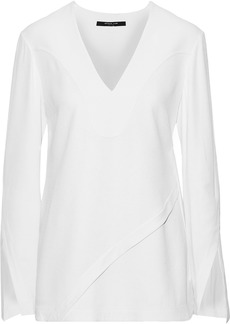 Derek Lam Woman Layered Crepe Top White