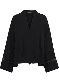 Derek Lam Woman Layered Cutout Silk Crepe De Chine Blouse Black
