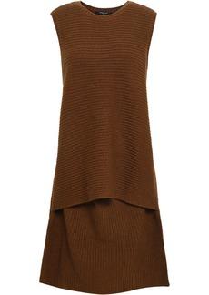 Derek Lam Woman Layered Ribbed Cashmere Dress Brown