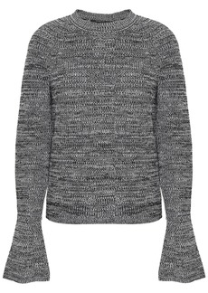 Derek Lam Woman Marled Cotton Sweater Black
