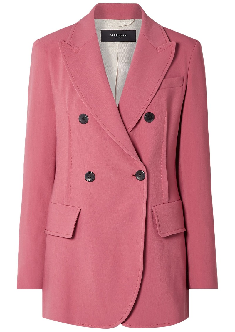 Derek Lam Woman Oversized Double-breasted Stretch-crepe Blazer Pink