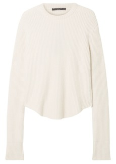Derek Lam Woman Oversized Ribbed Cashmere Sweater Ivory